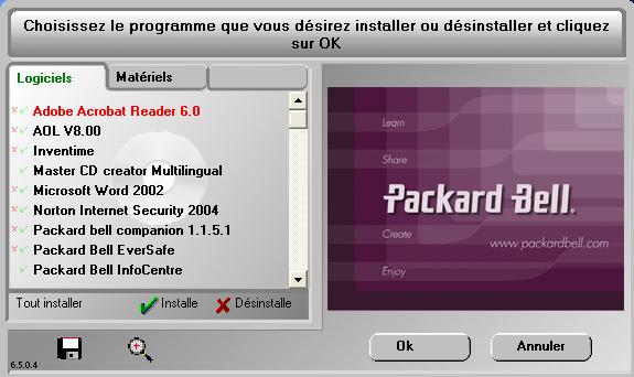 Restauration Windows Xp Packard Bell